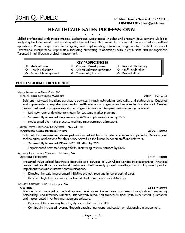 Healthcare Sales Resume Examples Resume Examples Sales Resume