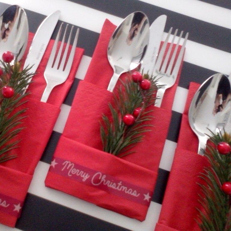 besteck sets f r die weihnachtstafel weihnachten pinterest. Black Bedroom Furniture Sets. Home Design Ideas