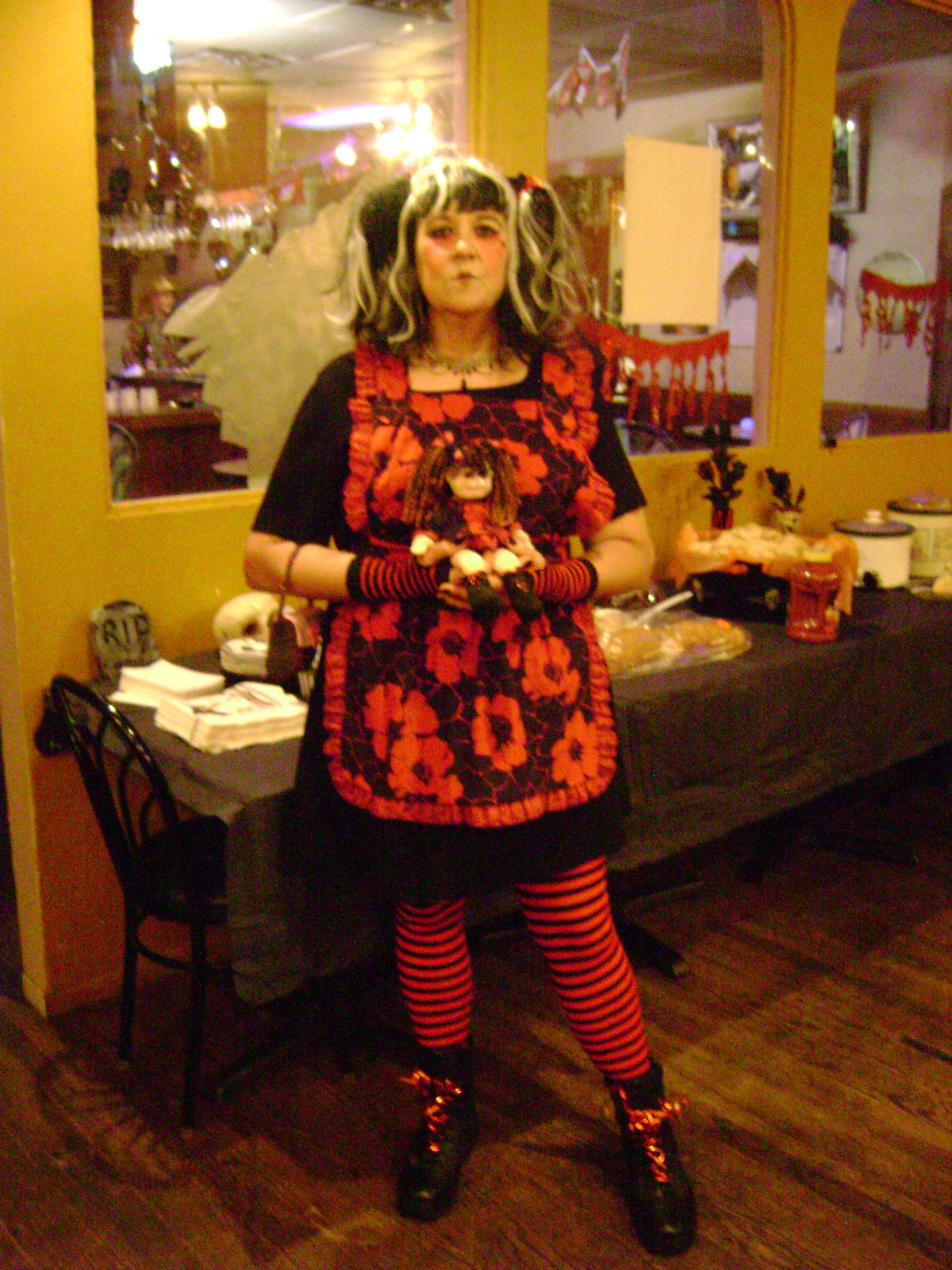 Rag-Deadly Ann....2010 Halloween costume I made (along with the little mini-me doll I'm holding).