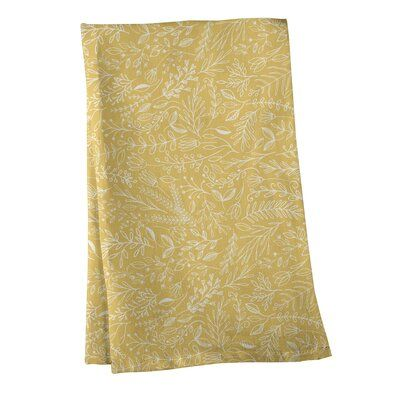 East Urban Home Mcguigan Classic Ditsy Floral Pattern Tea Towel Colour Yellow Material Cotton Twill Patterned Tea Towels White Hand Towels Tea Towels