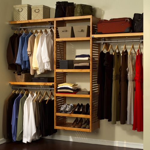 Lowes Closet Organizers Wood Hanging Closet Organizer System From Lowes Organization Furniture Diy Closet System Closet Organizing Systems Closet System