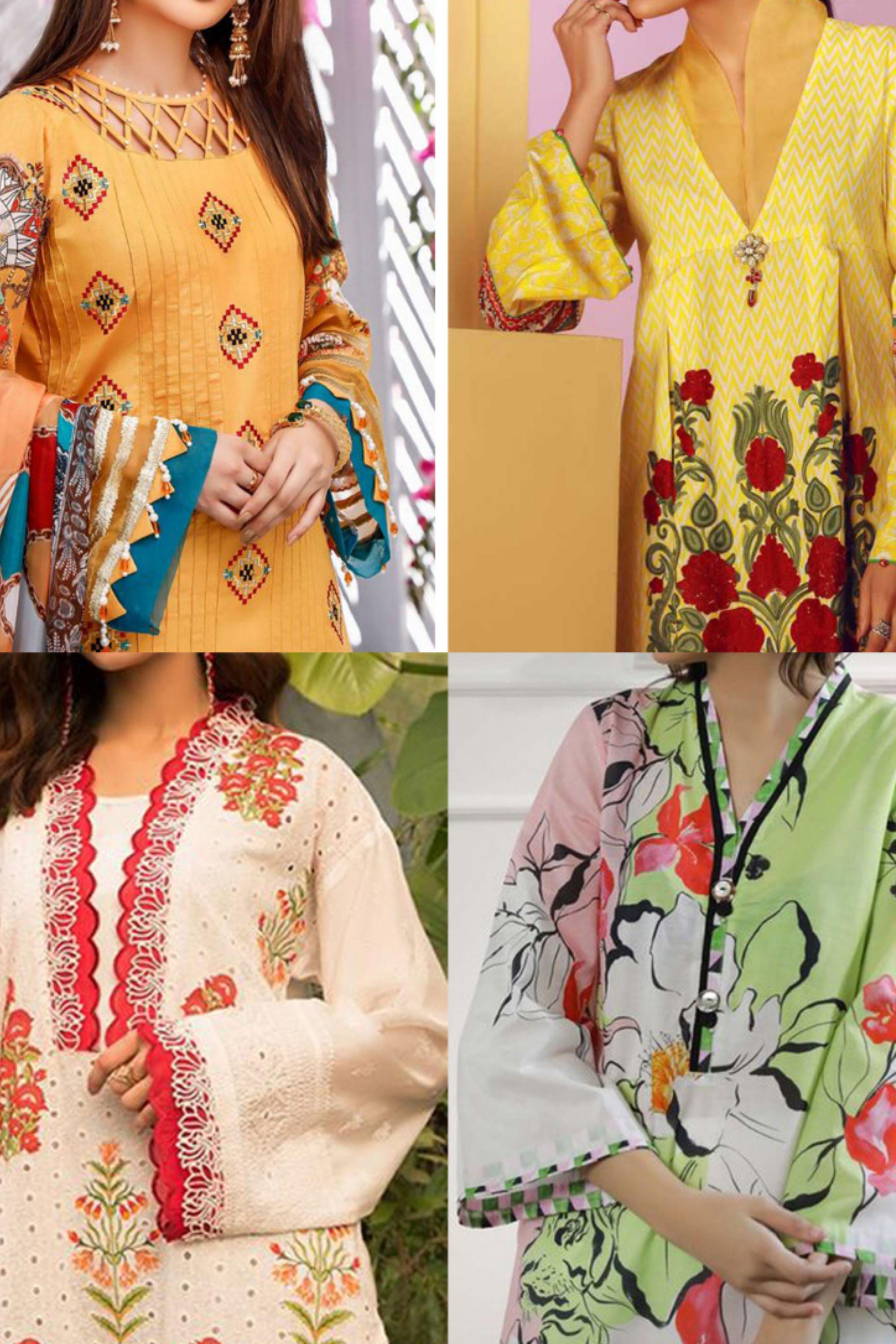 Lawn Dresses Design Ideas 2020 Stiching Ideas Pakistani Cotton Casual Ideas Design Eid I 2020