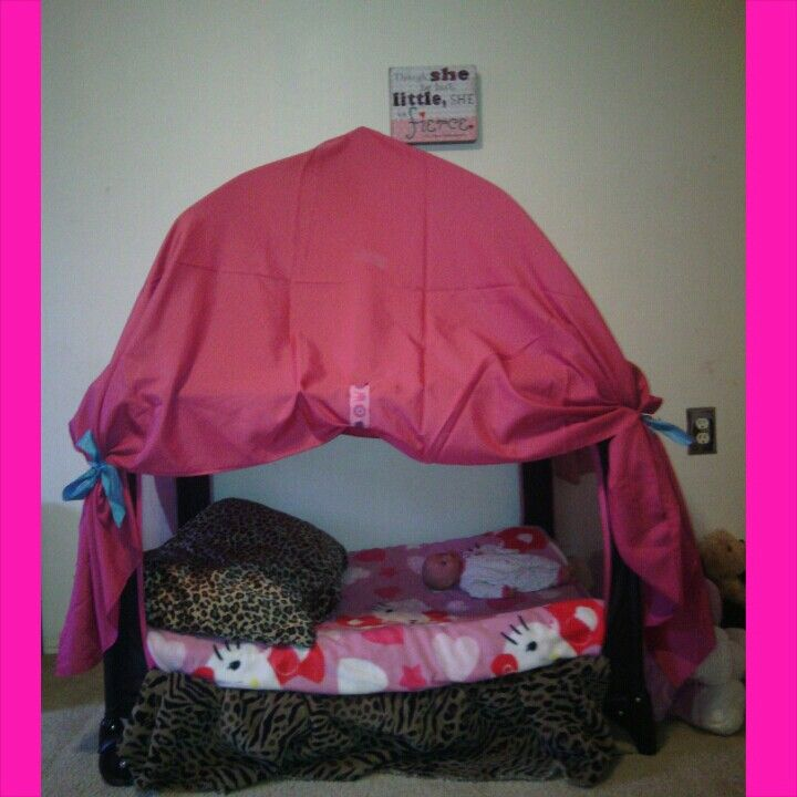 Baby Playpen With Canopy Diy From Play Pen To Canopy Toddler Bed Find Me On Insta