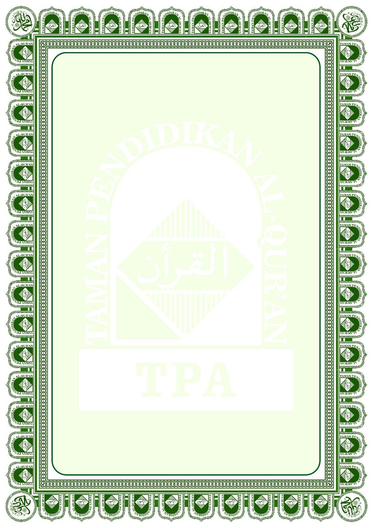 Frame Piagam Penghargaan : frame, piagam, penghargaan, BINGKAI, UNTUK, PIAGAM, (Taman, Pendidikan, Al-Quran), Bingkai,, Desain,