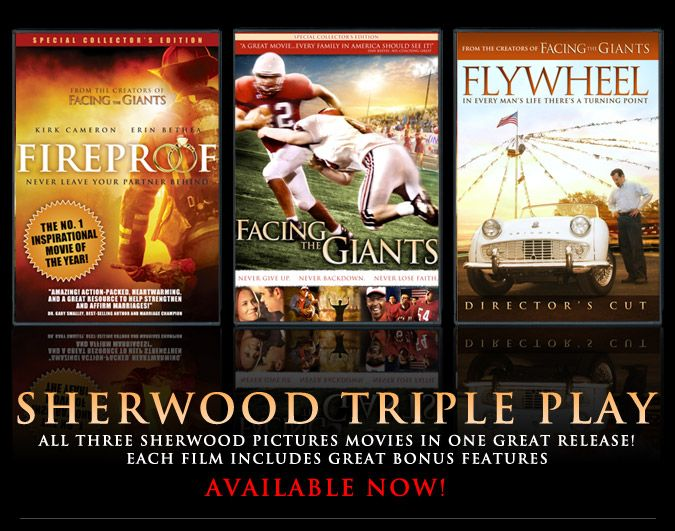 Flywheel Facing The Giants Fireproof 3 Great Movies From Sherwood Pictures Movies Christian Films Inspirational Movies Family Movies Facing The Giants