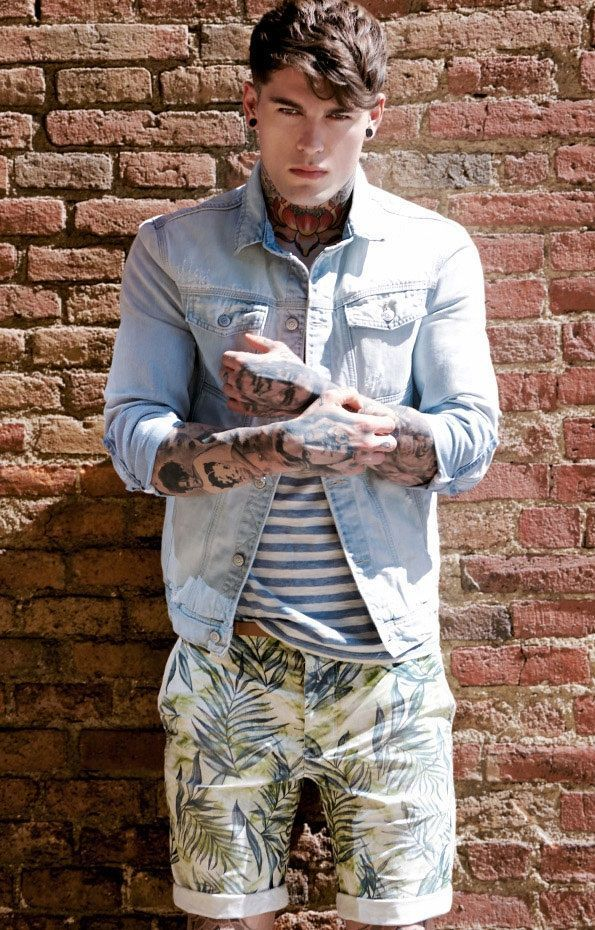 Tropical Print Shorts And Stripe Tee Mens Style Pinterest