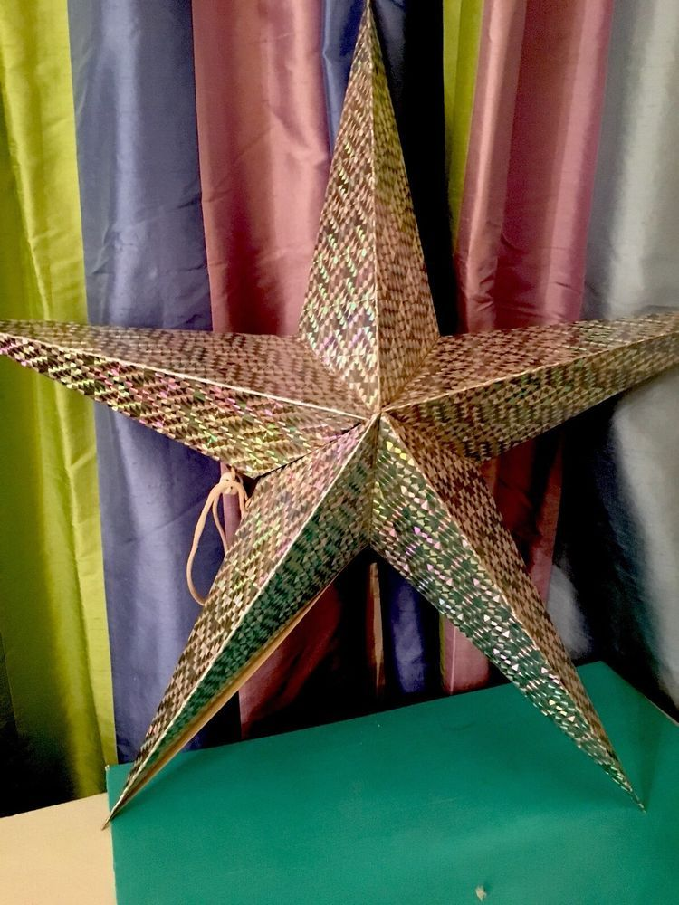 24 Silver Star Glitter Large Treated Cardboard Five Pointed Ebay