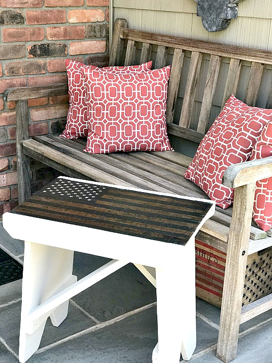 How To Make An American Flag Bench Old Benches American Flag Wood Easy Wall