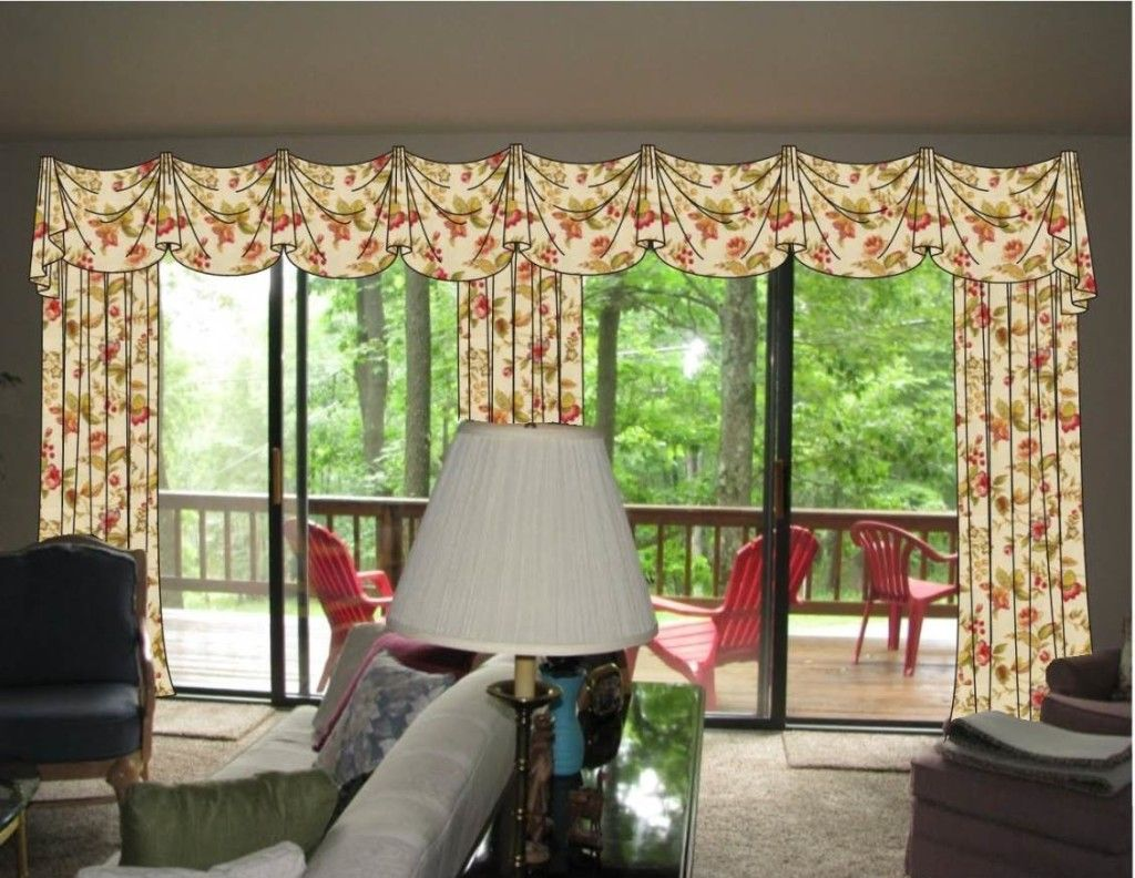 Valance Over Door Valances Over Sliding Glass Doors