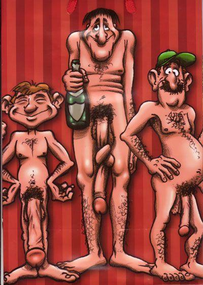 cartoon naked men