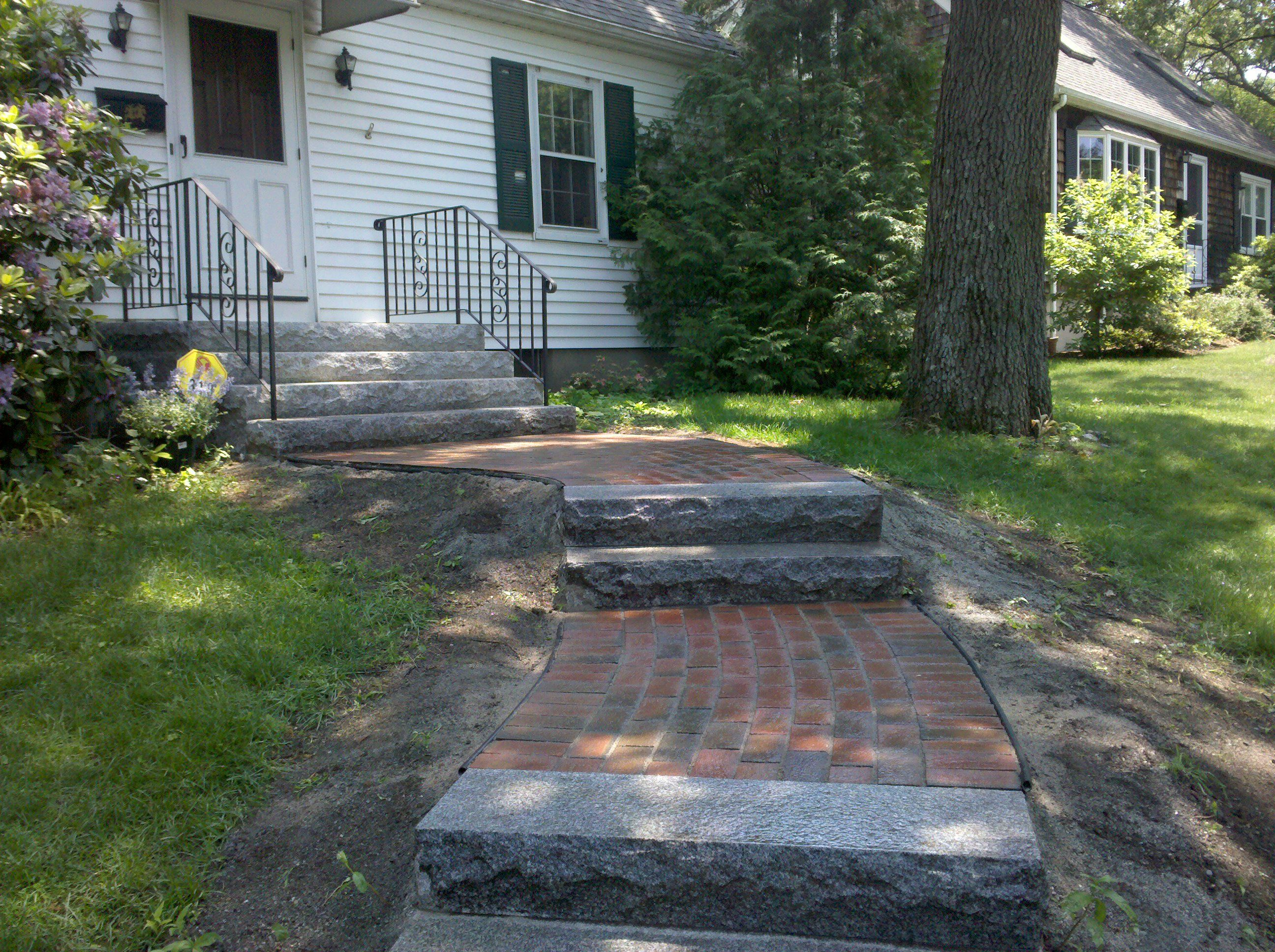 Brownstone And Brick Steps D S Brody Associates Inc Brick Steps Masonry Contractor Brick Path