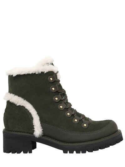 f4424ac0173c TORY BURCH 30MM COOPER SUEDE   SHEARLING BOOTS.  toryburch  shoes ...