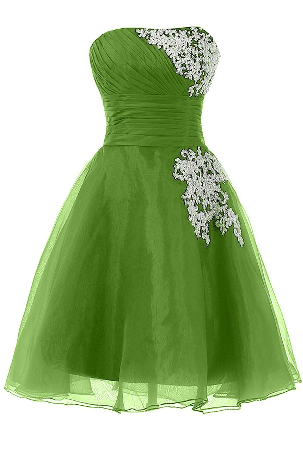 Dingzan organza and lace mini sweet party dance prom homecoming