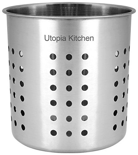 Kitchen Utensil Holder Utensil Container Utensil Cock Flatware Caddy Brushed Stainless Steel Cookware Cutlery Utens Kitchen Utensils And Gadgets Kitch