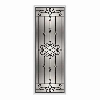 Odl Sanibel 22 X 64 Wrought Iron With Hp Frame Home Depot Canada Window Grill Design Frames On Wall Wrought Iron Front Door