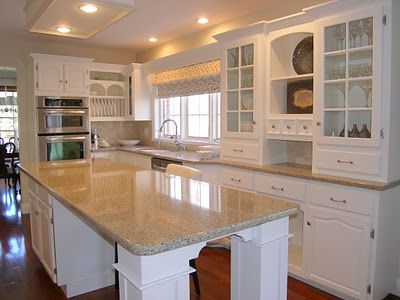 White Cabinets, Hanstone Victorian Sands Countertops...what Our Kitchen  Will Kinda Look