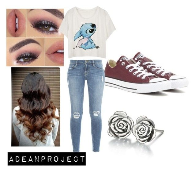 """""""Stitches"""" by twochainzfoever on Polyvore featuring Chamilia, Converse and Frame Denim"""