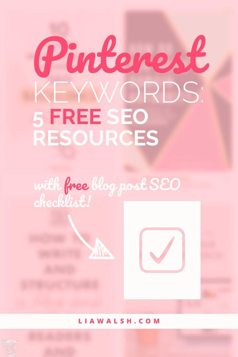 Pinterest Keyword Tools 5 Free Seo Resources Keywordtool Seo Tips Seo Seo Marketing
