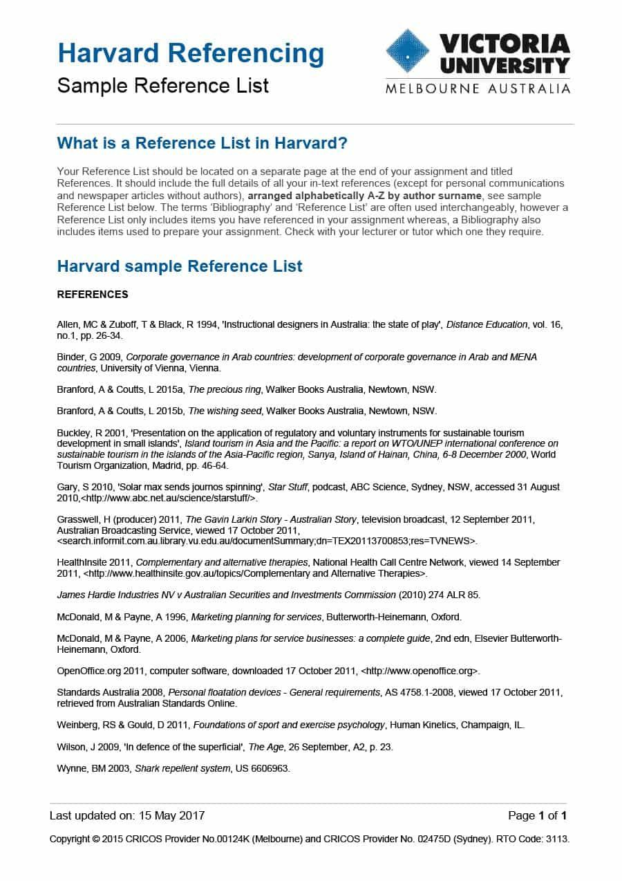 Best 3 Reference Sheet Template Format Pdf You Calendars Https Www Youcalendars Com Reference Sheet Template Htm Templates Reference Harvard Referencing