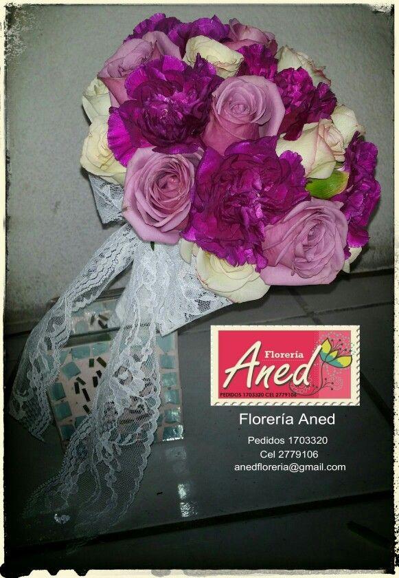 Ramo de la novia con rosas y clavel ● 27.09 14