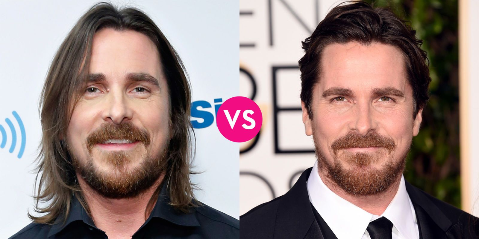 Do These Hot Male Celebs Look Better With Long Hair Or Short Christian Bale Long Vs Short Hair Long Hair Styles