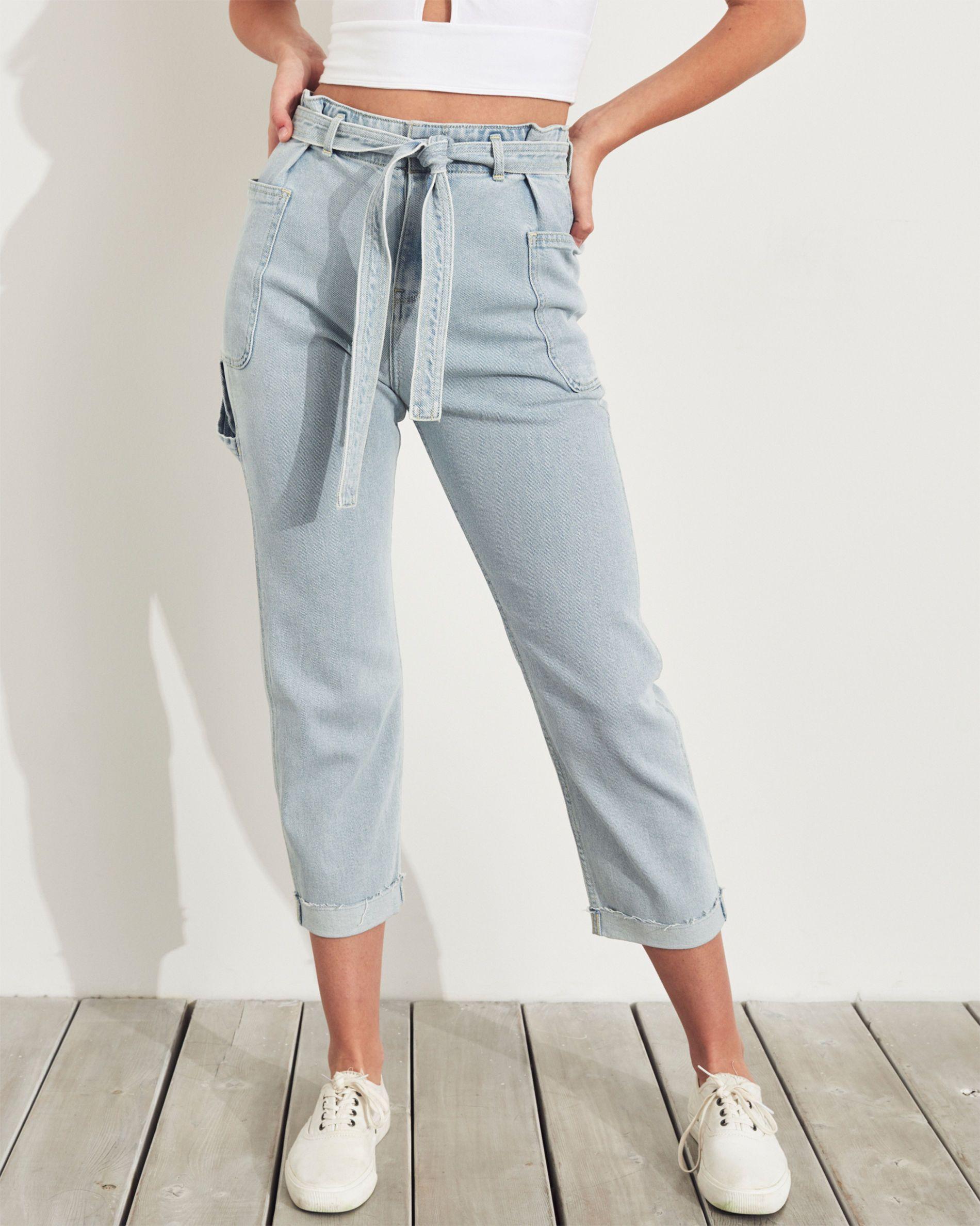 Girls Vintage Stretch High-Rise Boyfriend Jeans   Girls New Arrivals    HollisterCo.com   High rise boyfriend jeans, Boyfriend jeans, Light jeans