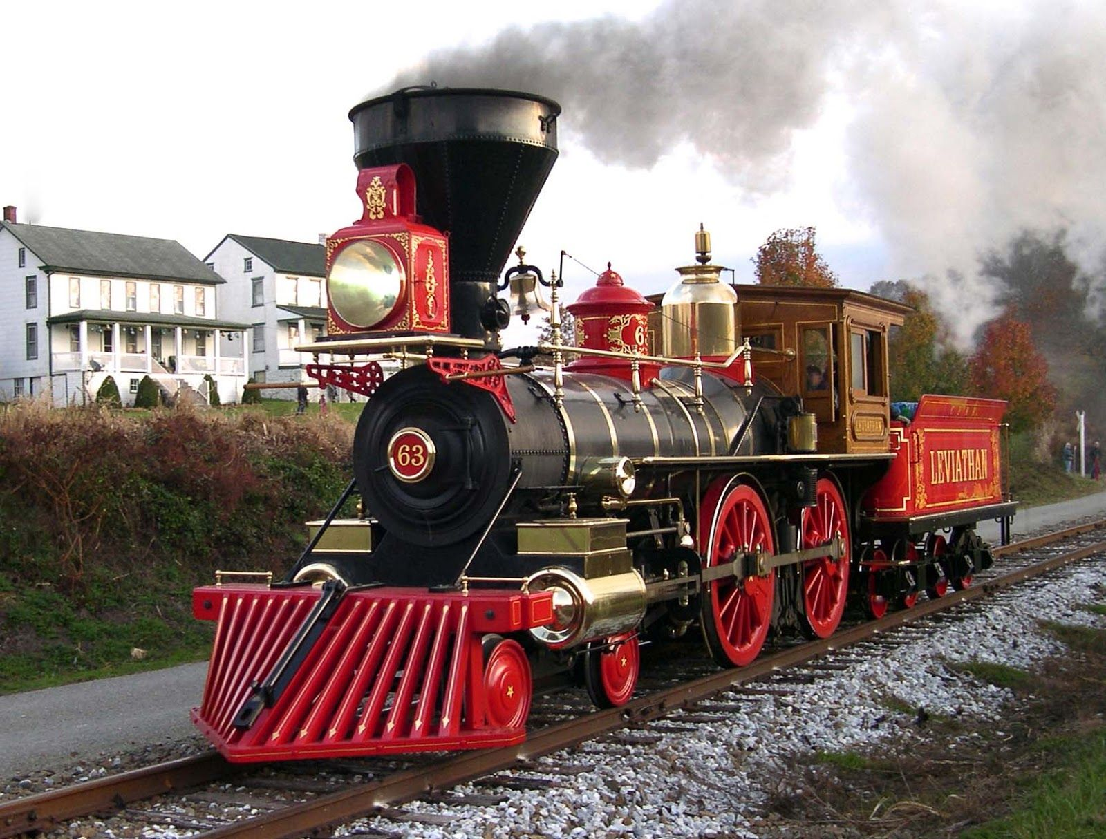 """Leviathan #63, a 4-4-0 """"American"""" locomotive built by the ..."""