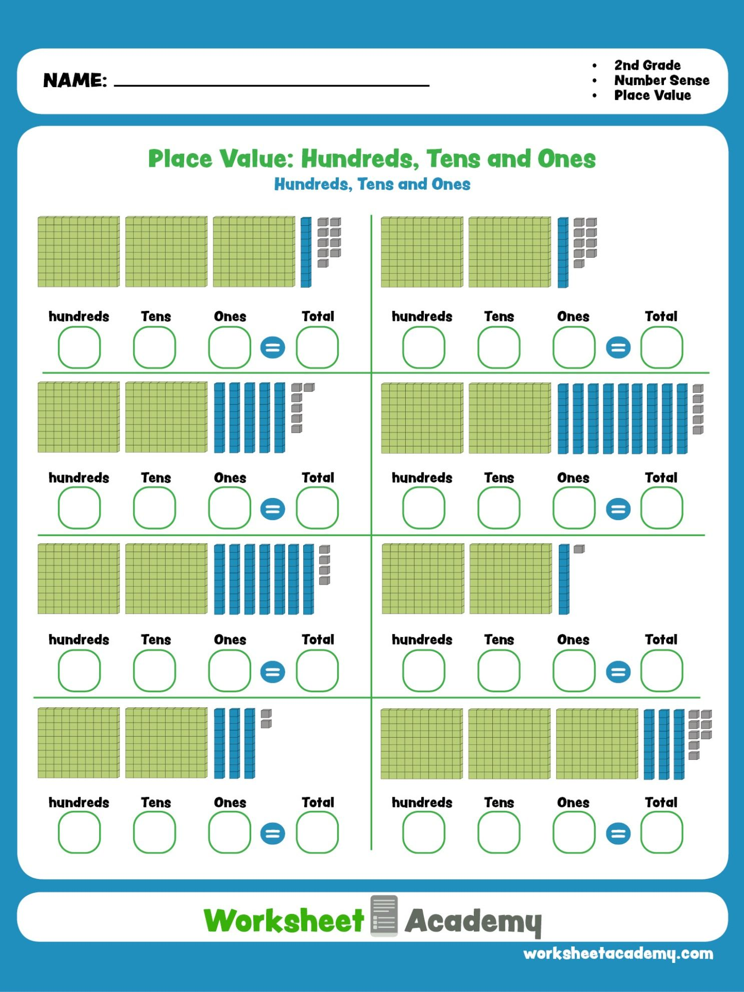 A Great Math Worksheet To Help Your Student Master Place
