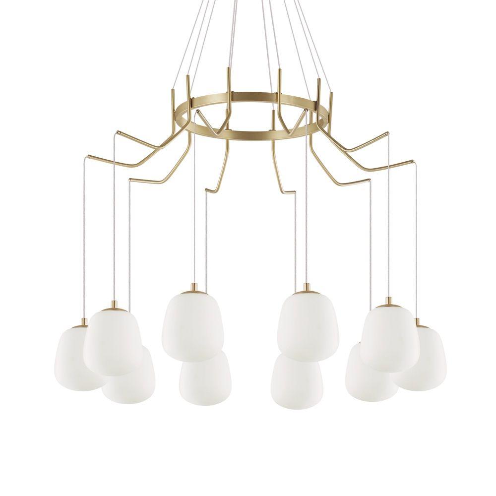 Kronleuchter Mit Lampenschirmen Moderne Kronlechter Hier: KAROUSEL Großer Kronleuchter Mit 10 Brennstellen