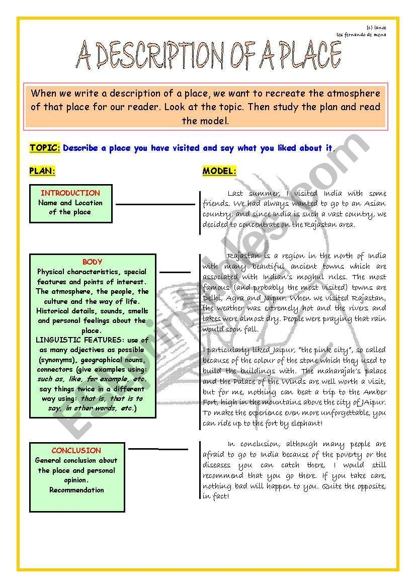 Layout Of A Descriptive Essay To Help Student Develop Writing Skill Argumentative Practice Make Perfect On Man For Clas 5 In English 300 Word