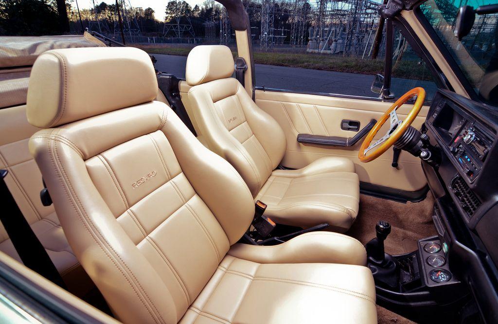 Vwvortex Com 1986 Cabriolet Bbs Rs Vr6 Custom Recaro Interior North Carolina Vw Mk1 Autos Interiores
