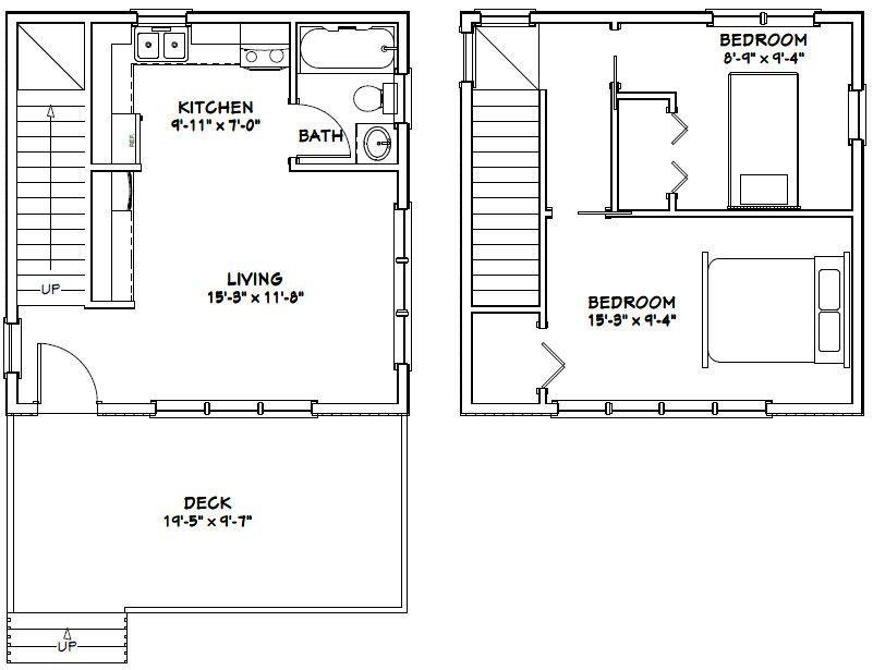 20x20 2 Bedroom 1 Bath Home 20x20h3 683 Sq Ft Excellent
