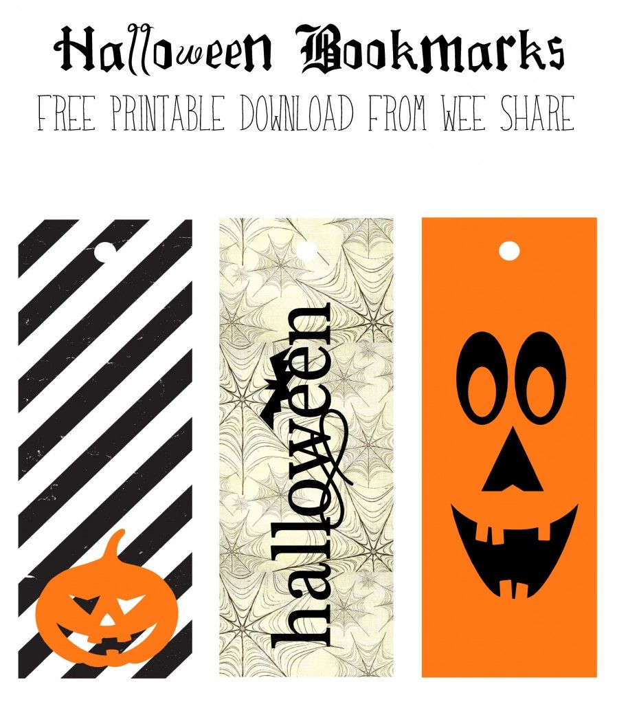 Marcadores de Halloween para imprimir - Free printable Halloween ...