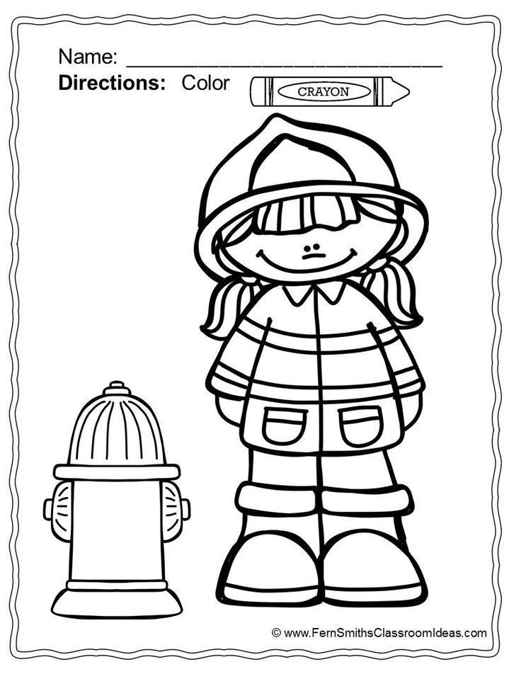 Fire Safety Coloring Pages Dollar Deal | Fire prevention, Fire ...