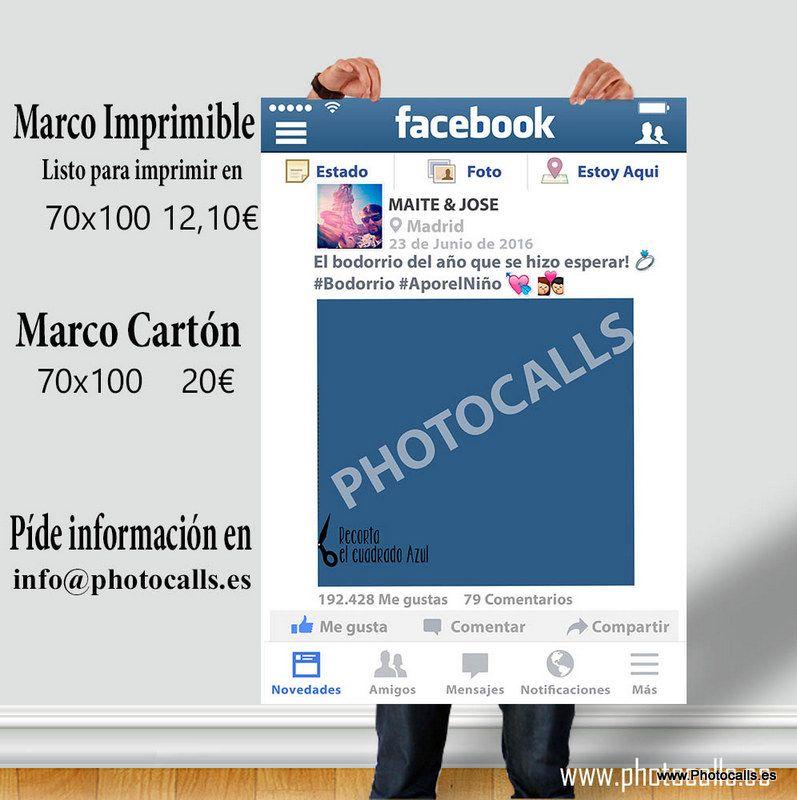 Marco Facebook Barato ideal para bodas, cumpleaños, fiestas y ...