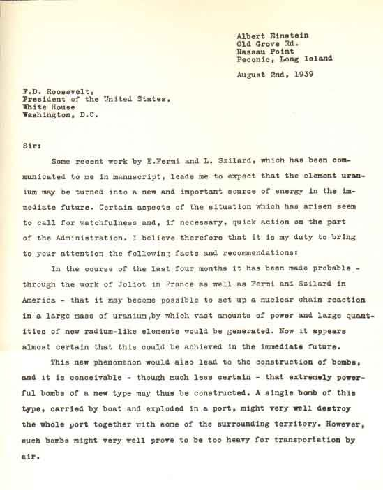Einstein S Letter To Franklin D Roosevelt President Of The United States About The Development Of The Atomic Bomb Albert Einstein Einstein Lettering