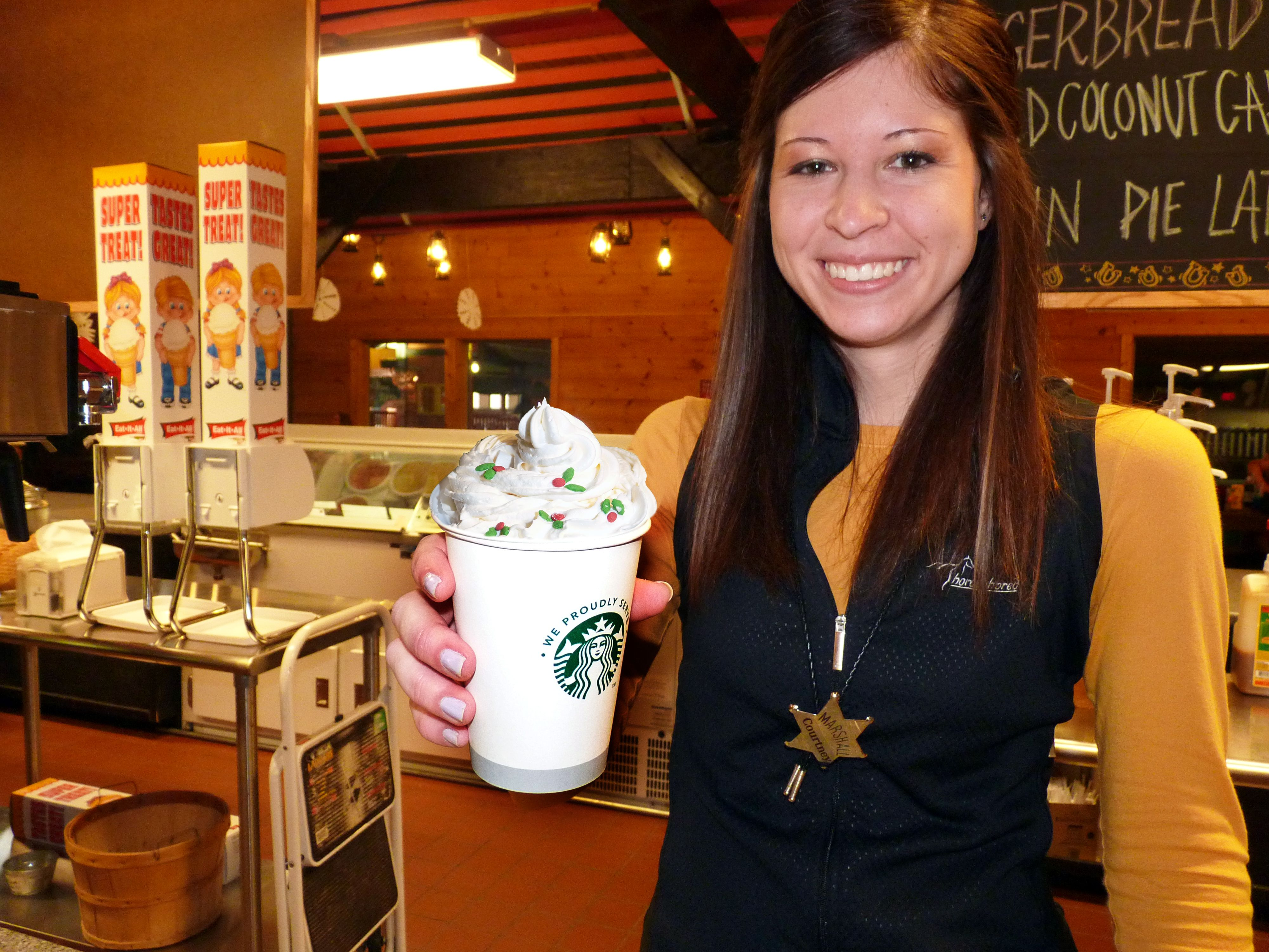 Enjoy Hot Starbucks at the Pony Expresso Winter fun