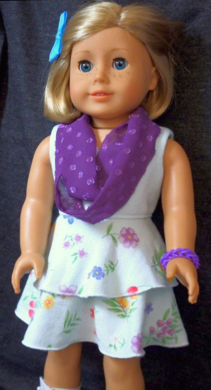 American Girl Doll Clothes Flowered Dress by buttonandbowboutique, $20.00