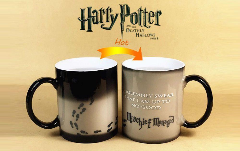 Harry Potter Mug Cup Magic Hot Temperature Heat Sensitive Color Changing Mug Cup Coffeemug Changingcolormug Harry Harry Potter Mugs Harry Potter Colors Mugs