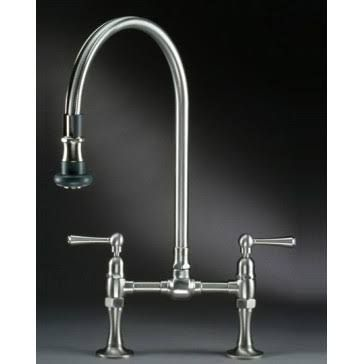 Jaclo 1015 Deck Bridge Kitchen Faucet W Pull Off Spray With