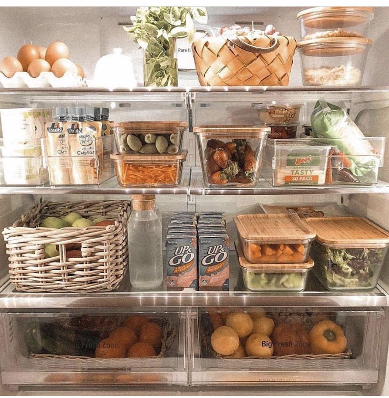 Pin By Maddy Weston On Home Healthy Fridge Fridge Organization Trendy Kitchen