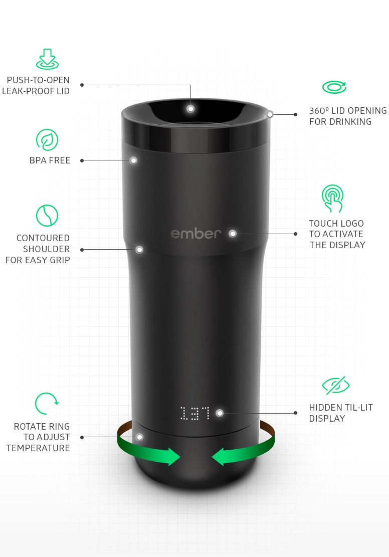 Ember Tech Precision Temperature Controlled Thermos Coffee Musthave