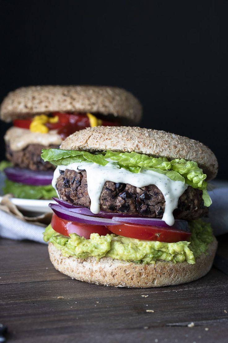 Low Fat Easy Vegan Gluten Free Black Bean Burgers