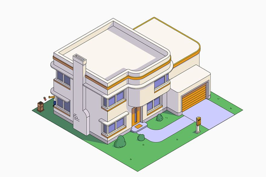 This Is What Would Happen If Homer Simpson Hired Architects To Build His  House