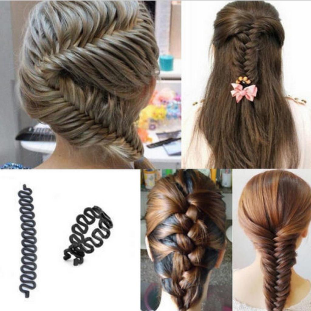 Hair braiding roller twist maker hair style braid hair and makeup