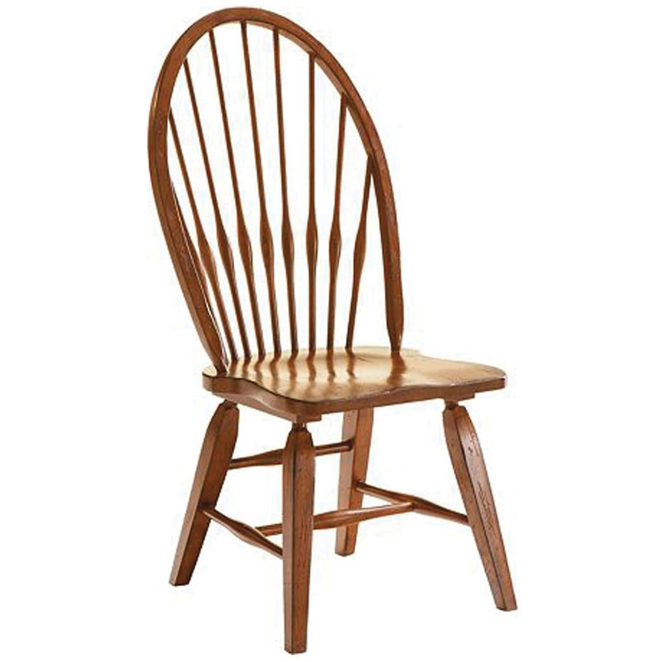 Broyhill Attic Heirlooms Windsor Side Chair In Rustic Oak Set Of 2 Side Chairs Dining Broyhill Furniture Solid Wood Dining Chairs