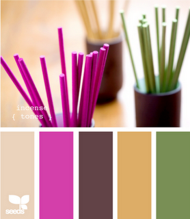 Business Card Color Option - Palette of color-love the hot pink and green