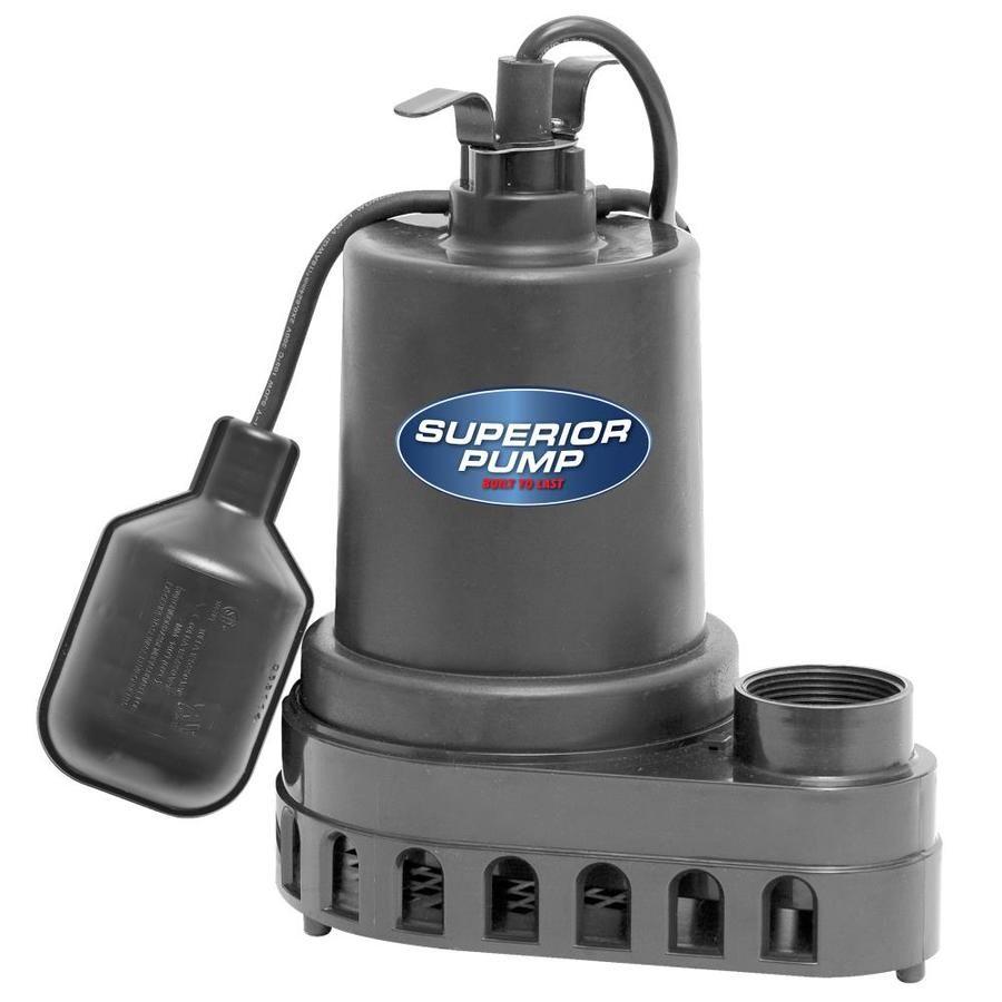 Superior Pump Sump 0 5 Hp Thermoplastic Submersible Sump Pump Submersible Sump Pump Sump Pump Sump