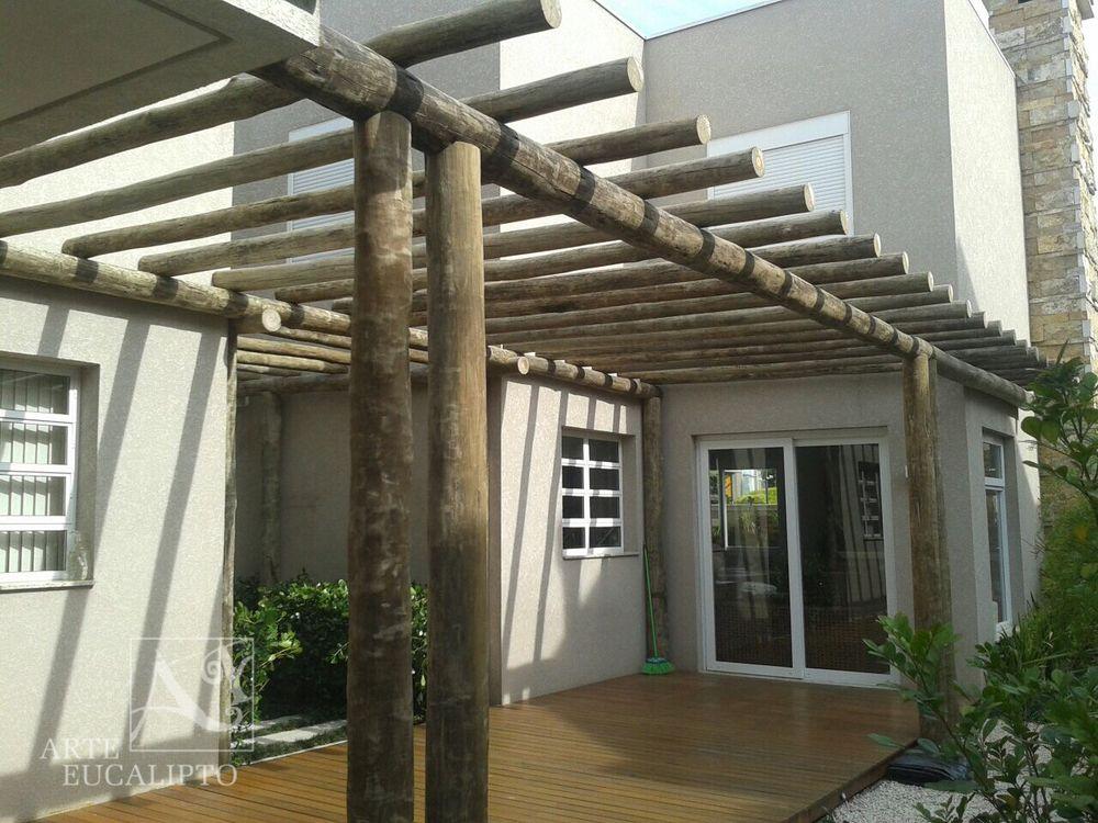 Pórtico de troncos | Terrazas, galerías, parrillas y más ...