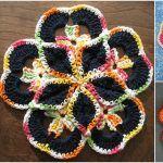 Crochet Amazing Starburst Hotpads [Pattern + Videos]